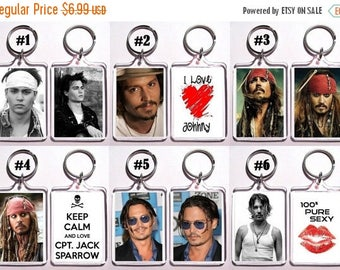 ON SALE NOW Johnny Depp Keychain Key Ring - Many Designs To Choose From
