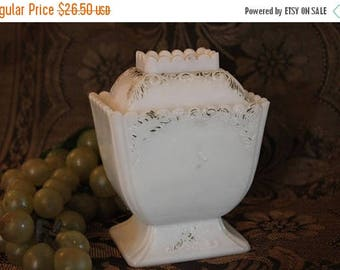 SALE Antique Westmoreland Specialty EAPG White Milk Glass Covered Sugar Bowl or Condiment Jar