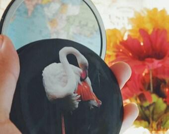 Flamingo- pocket mirror