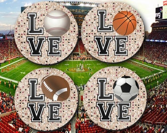 Coaster, Sports Fan, Sports Gift, Fathers Day, Dad's Birthday,Man Cave Gift - CO00941
