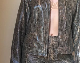 Perfect Condition 90s  FAUX SNAKE SKIN suit
