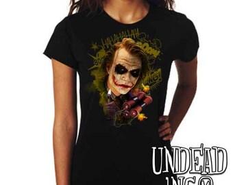 DC Comics Joker BOOM Batman Dark Knight  - Ladies T Shirt