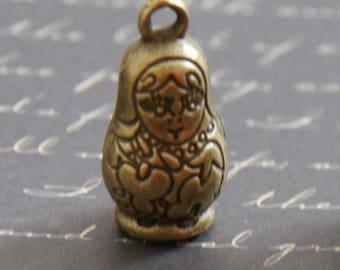 Bronze toned Russian doll charm 25 x 12, 5mm