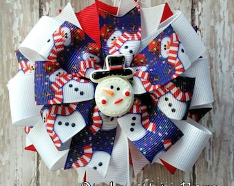 Friendly Snowman Bow