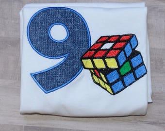 Puzzle cube shirt/ Boys birthday shirt