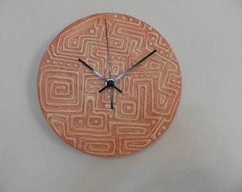 Indian inca wall clock, vintage,  nurcery wall clock, office wall clock, gift for boy or girl, clock wall