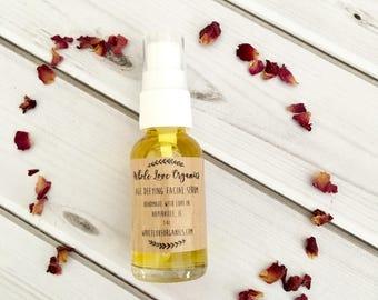 Organic Facial Serum - Age Defying - Nourishing Oil - Argan Oil Serum - Balancing - Acne Fighter - Night Cream - Rose - Sandalwood