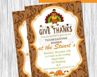 50% Off Thanksgiving Invitation-Give Thanks