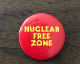 Nuclear Free Zone Vintage Button
