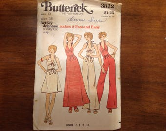 Butterick 3512 by Betsey Johnson, from the 70s, size 13
