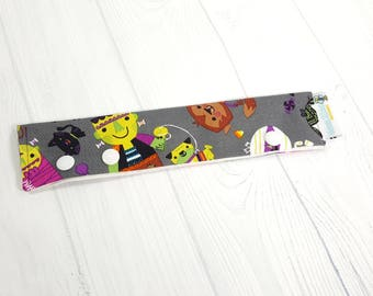 "Halloween Friendly Monsters Long Needle Cozy DPN Holder - project holder 8""x2"" (Hold up to 8"" Needles) NCL0047"