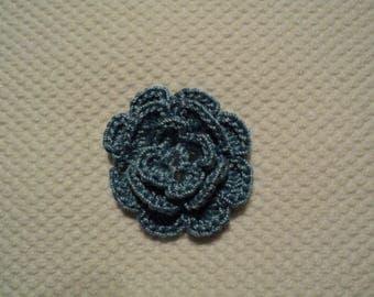 SET of 10 flowers to CROCHET for EMBELISSEMENT ref: z37
