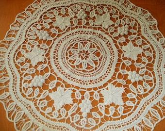 "Round Macrame Table Cloth  ,circle  -70 cm/28"""