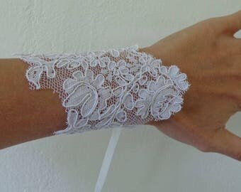 Bracelet available-white lace glove on wedding