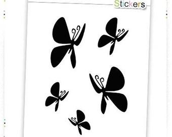 Black butterflies vinyl stickers