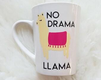 no drama llama/no drama llama mug/drama llama mug/drama llama/mothers day mug/funny coffee mugs/llama coffee mug/llama mugs/llama coffee/