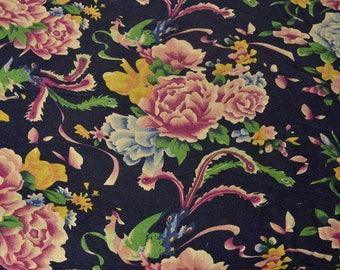 Chinese traditional black Matt LAO fabric HUA 5 m