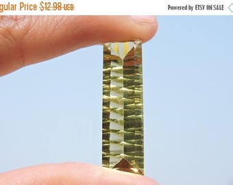 tITLE 25% OFF 1 Pc Beautiful Citrine Quartz Concave Cut Baguette Size 35*10 MM