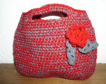 small bag wool with flower and leaves