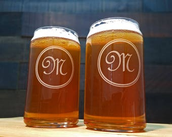Personalized Beer Can Glasses, Groomsmen Gift, Bridesmaids Gifts, Wedding Glasses, Engraved Beer Glass, Best Man Gift, Monogrammed Glass