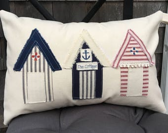 Beach Hut pillow
