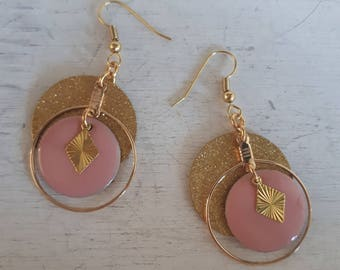 Glitter - pink and gold