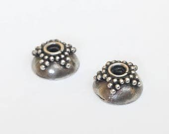 Bali Sterling Silver Bead Caps 8mm-2pc