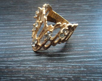 18 k gold plated ring, 16 size