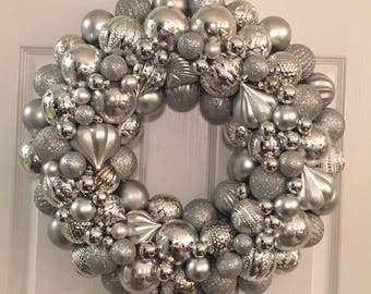 Silver Ornament Wreath