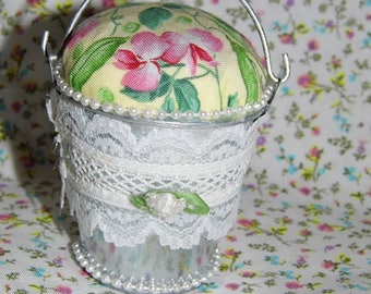 Lavender filled shabby Pincushion