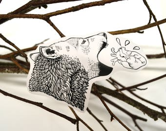 Wolf Head Vinyl Sticker