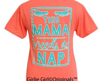 Girlie Girl Originals Mama Nap Retro Heather Coral Short Sleeve T-Shirt