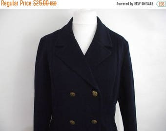 summer sale Vintage blazer jacket 60s navy jacket with nautical anchor brass buttons size large extra large