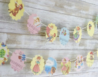 Children Music Songs Nursery Rhymes Paper Bunting Banner Pennant Garland