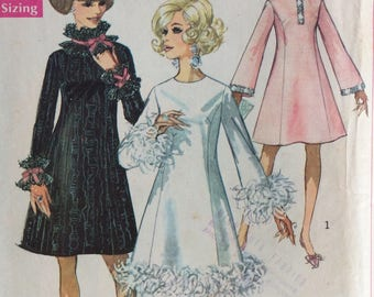 Simplicity 7914 misses A-line dress size 12 bust 34 vintage 1960's sewing pattern