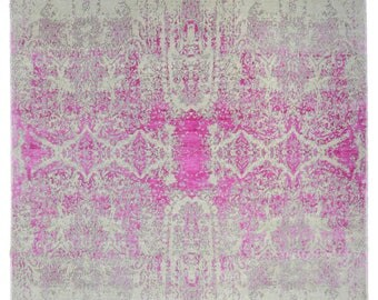 Distressed Transitional Pink Posh Silk And Wool P2506 Design: 1825