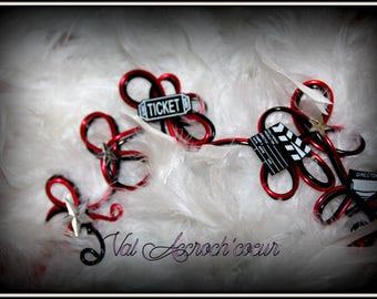 movie theme hair jewelry