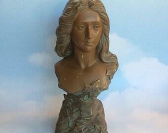 Rare Antique Art Nouveau Stahlknecht 2428 Bronze Pottery Womans Bust