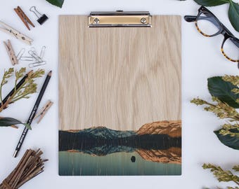 Wood Clipboard | Tahoe: Fallen Leaf Lake 2114, Natural Wood, Printed Image Clipboard