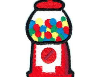 Gum Ball Machine On Patch Embroidered Applique