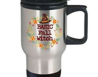 Fall Mug - Autumn Mug - Basic Witch - Funny Mug For Girls - Witches Brew Coffee Mug - Halloween Mug - Travel Mug
