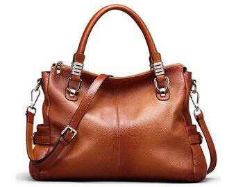 "Handbag San Marino 13 ""made of genuine leather"