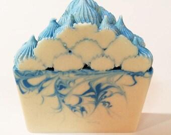Hand Soap - Hand Soap Bar - Spring Soap - Hand Soap Favors - Artisan Soap - Handmade Soap - Blue Soap - Homemade Soap - Spring Fresh Soap