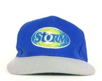 On Sale Now 90s Storm PesiCo Lemon Lime Soda Logo Take Your Thirst by Storm Blue Baseball Cap Hat Snapbak Sm-Med Adult Size