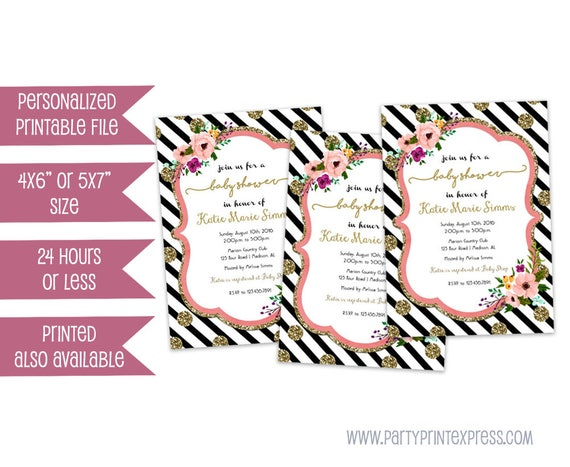 Printable elegant baby shower invitation girl baby shower invites il570xn filmwisefo