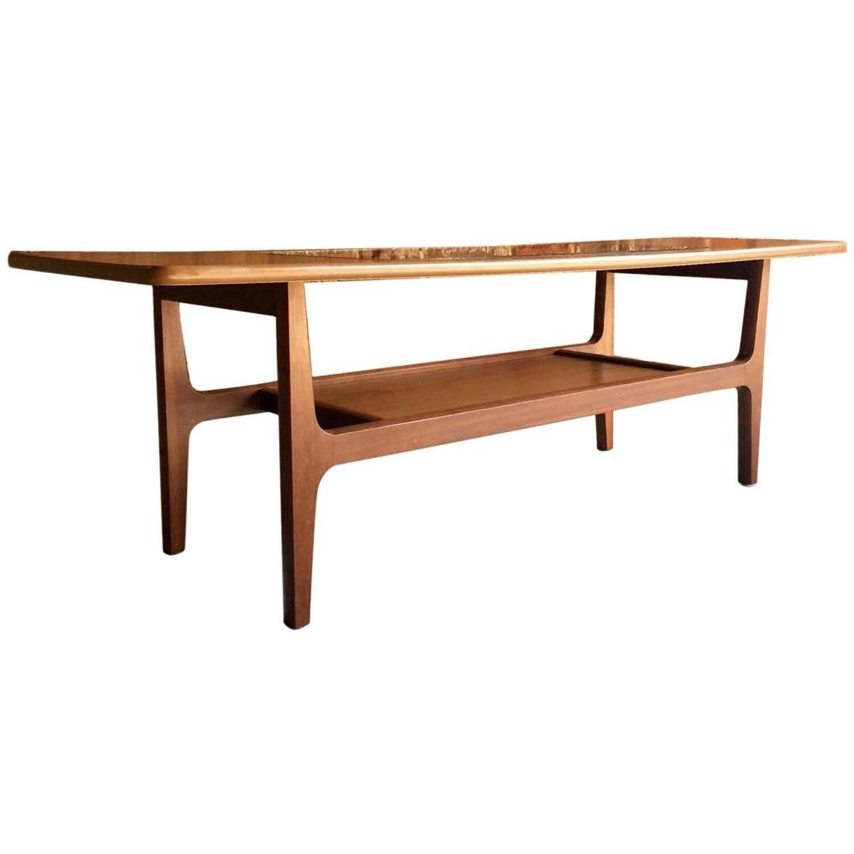 Mid Century Schreiber Teak Coffee Table Vintage Danish Design