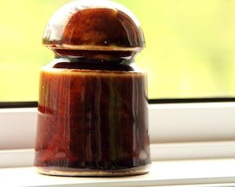 Brown Porcelain Insulator