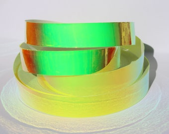 "1"" UV Reactive Galactic Gecko Translucent Color Morph Hula Hoop Tape - 50ft, 100ft, 150ft roll"