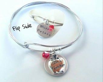 Teacher Gift Bracelet, Teacher Bracelet, Custom Teacher Bracelet, Personalize