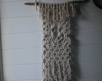 Hand crafted macrame wall hanging on driftwood ( made in australia)